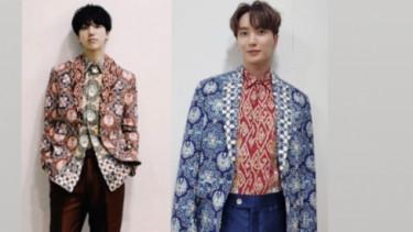 Heboh! Ridwan Kamil Pamer Batik Desainnya Dipakai Artis Super Junior